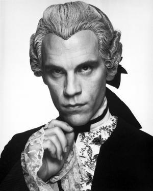 John Malkovich Posed in in Black Coat With White Background by Movie Star News