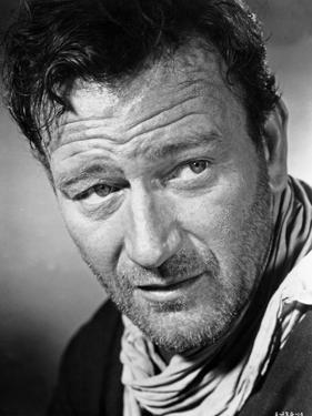 John Wayne wearing a Scarf in a Close Up Portrait by Movie Star News