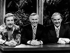 Johnny Carson smiling With Cast by Movie Star News