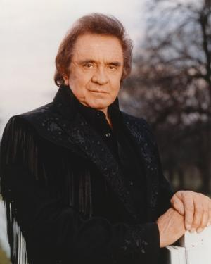 Johnny Cash wearing a Black Suit by Movie Star News