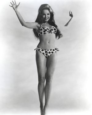 Julie Newmar Posed wearing polka dot Lingerie Portrait by Movie Star News