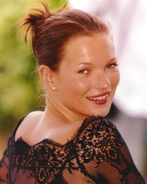 Kate Moss on Black Embroidered Lace Top by Movie Star News