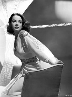 Kathryn Grayson on a Long Sleeve sitting on a Couch by Movie Star News