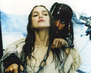 Keira Knightley Scene from the Movie Pirates of the Caribbean by Movie Star News