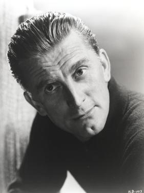 Kirk Douglas in Black Sweater Close Up Portrait by Movie Star News