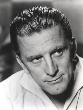 Kirk Douglas in White Polo Close Up Portrait by Movie Star News