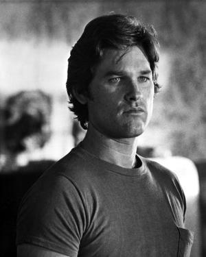 Kurt Russell in TShirt Black and White Portrait by Movie Star News