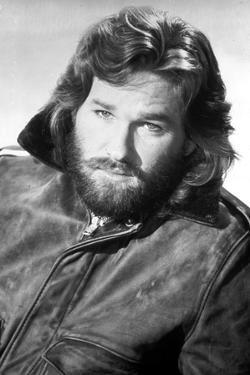 Kurt Russell Posed in Leather Jacket With White Background by Movie Star News