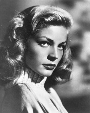 Lauren Bacall Looking Sideways in Black and White by Movie Star News