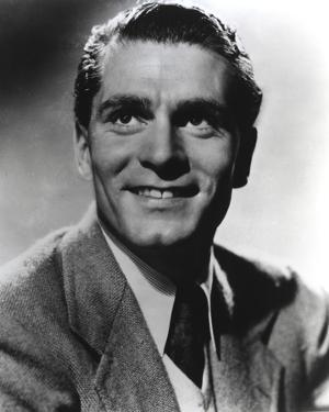 Laurence Olivier in Formal Outfit Black and White Close Up Portrait by Movie Star News