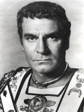 Laurence Olivier in Gladiator Outfit Black and White Portrait by Movie Star News