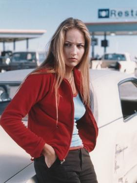 Leelee Sobieski Leaning in Red Sweater Portrait by Movie Star News