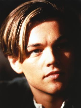 Leonardo Dicaprio Close Up Portrait in Black Background by Movie Star News
