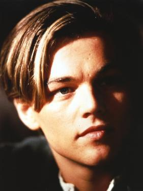 Leonardo Dicaprio Close Up Portrait in Black Background by Movie Star News