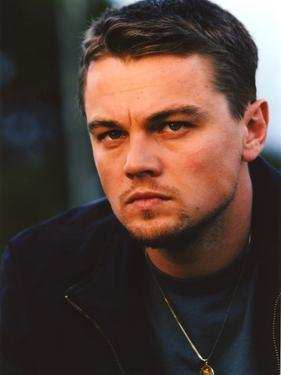 Leonardo Dicaprio in wearing Black Leather Jacket Close Up Portrait by Movie Star News
