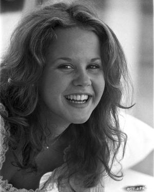 Linda Blair smiling Classic Close Up Portrait by Movie Star News