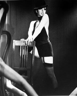 Liza Minnelli Posed on Chair in Black Lingerie with Hat by Movie Star News