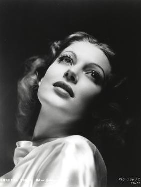 Loretta Young Heads Up Curly Blonde Hair by Movie Star News