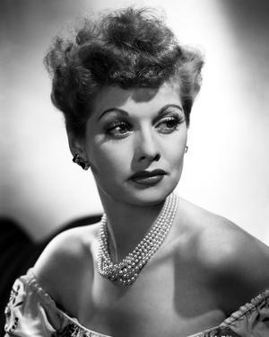 Lucille Ball Portrait in Black and White by Movie Star News