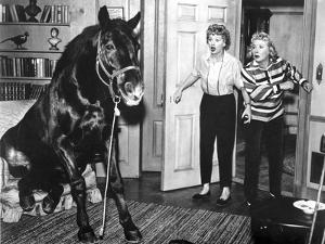 Lucille Ball Shocked with Woman in Movie Scene by Movie Star News