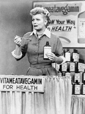 Lucille Ball Tasting Medicine in Movie Scene by Movie Star News