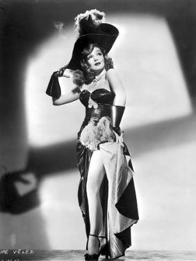 Lupe Velez Posed in Sexy Black Dress with Heels by Movie Star News