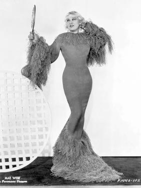 Mae West standing in Classic Long Gown by Movie Star News