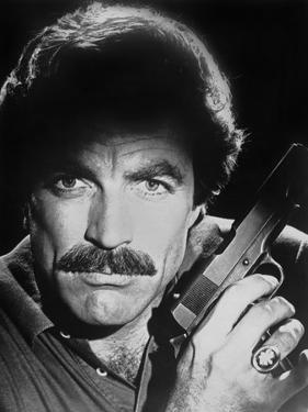 Magnum Pi Close Up Portrait with Pistol by Movie Star News
