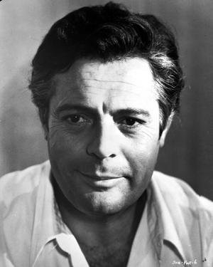 Marcello Mastroianni Posed in White Shirt by Movie Star News