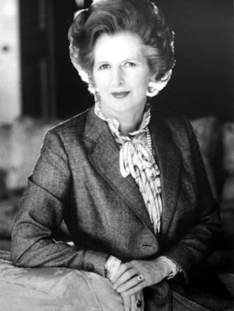 Margaret Thatcher on a Blazer and Leaning by Movie Star News