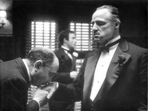 Marlon Brando in The Godfather at his Daughter's Wedding Hand Kiss by Movie Star News