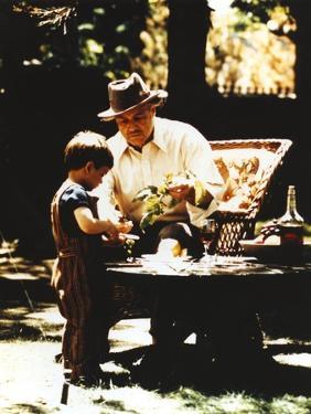 Marlon Brando with Grandson Movie Still from The Godfather by Movie Star News