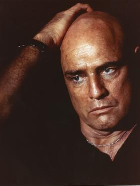 Marlon Brando with Hand on Head Movie Still From Apocalypse Now by Movie Star News