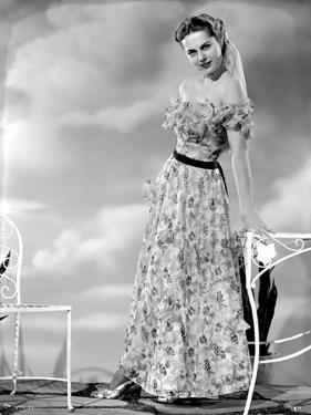 Martha Hyer on Printed Dress Portrait by Movie Star News