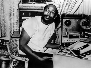 Marvin Gaye sitting Portrait by Movie Star News