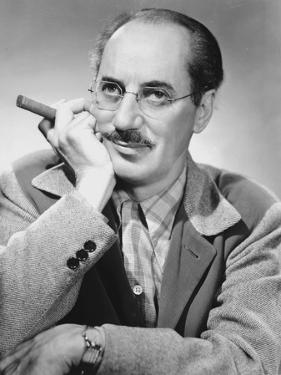 Marx Brothers Portrait of a Man Holding Cigar by Movie Star News