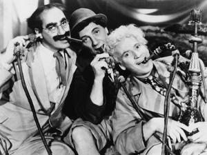 Marx Brothers Portrait with Three man Sucking Up Something by Movie Star News