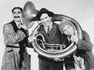 Marx Brothers Posed in Classic Portrait Playing Musical Instruments by Movie Star News