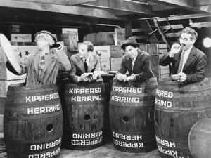 Marx Brothers Scene With Four Men Hiding in a Barrel- Photograph Print by Movie Star News
