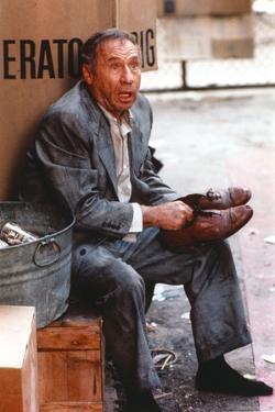 Mel Brooks Portrait in Blue Suit by Movie Star News
