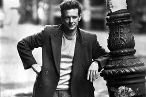 Mickey Rourke Leaning in Coat Portrait by Movie Star News