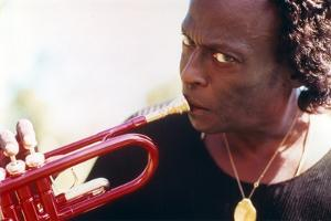 Miles Davis with Trumpet Close Up Portrait by Movie Star News