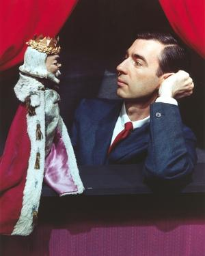 Mister Rogers Holding Puppet in Tuxedo by Movie Star News