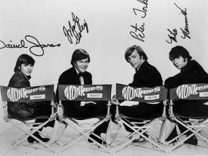 Monkees in Black With White Background by Movie Star News