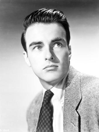 Montgomery Clift Close Up Portrait in Black Coat and Tie by Movie Star News