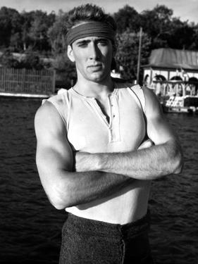Nicolas Cage in Tank top Portrait With Headband by Movie Star News