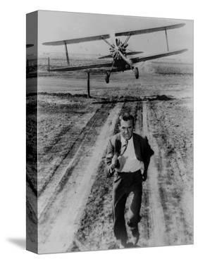 North By Northwest Running Scene in Black and White by Movie Star News