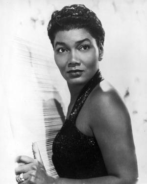 Pearl Bailey Posed in Black Tank Top Portrait with White Background by Movie Star News