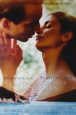 "Penelope Cruz with Nicholas Cage in ""Captain Corelli's Mandolin"" Movie Poster by Movie Star News"