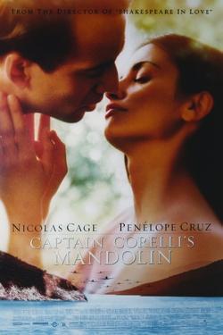 "Penelope Cruz with Nicholas Cage in ""Captain Corelli's Mandolin"" Movie Poster by Movie Star News"
